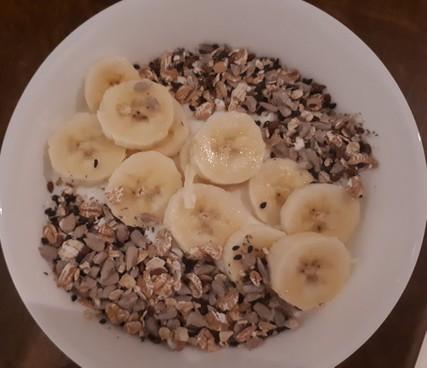 Banános müzli